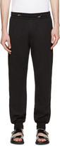 Versace Black Leather Trim Lounge Pants