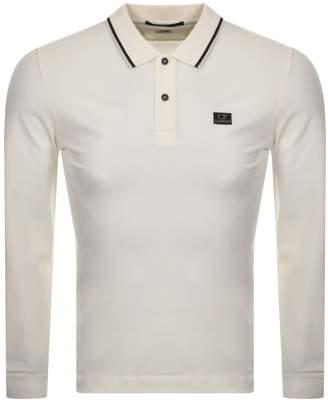 C.P. Company C P Company Long Sleeved Polo T Shirt White