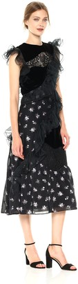 Rebecca Taylor Women's Sleeveless Floral Jacquard Dress