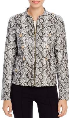Calvin Klein Faux Snakeskin Moto Jacket
