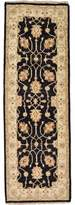 """Huntingdon One-of-a-Kind Hand-Knotted Runner 1'8"""" x 5'1"""" Wool Black/Beige Area Rug Isabelline"""