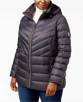 MICHAEL Michael Kors Size Ruched Packable Down Coat