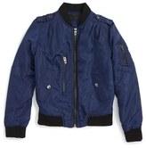 Blank NYC BLANKNYC Nylon Bomber Jacket (Big Girls)