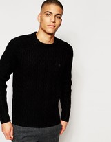 Original Penguin Cable Wool Knitted Jumper