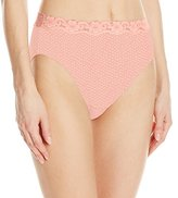 Olga Women's Without a Stitch Lace Hi-Cut Brief Panty