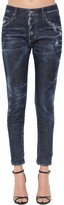 DSQUARED2 Dark Wash Cotton Denim Skinny Jeans