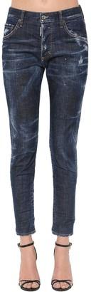 DSQUARED2 Dark Wash Cotton Denim Skinny Jeans