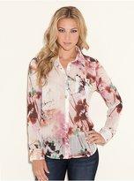 GUESS Yvonne Chroma Floral-Printed Shirt