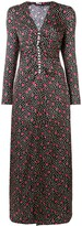 Miu Miu button-embellished printed maxi dress