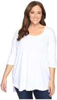 Allen Allen Plus Size Elbow Sleeve Tee w/ High-Low