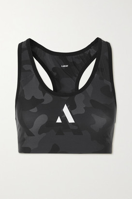 AARMY Chelsea Camouflage-print Stretch Sports Bra - Black