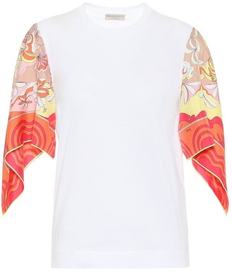 Emilio Pucci Silk-trimmed cotton shirt