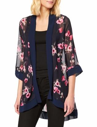 Yumi Women's Rose Print Long Length Kimono Blouse