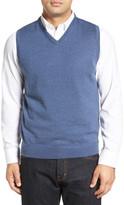 John W. Nordstrom Wool V-Neck Sweater Vest (Big)