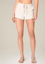 Bebe Striped Linen Shorts