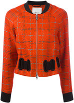 3.1 Phillip Lim Plaid bomber jacket - women - Silk/Linen/Flax/Viscose - 4