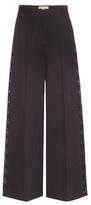 Stella McCartney Maude lace-trimmed wide-leg cotton trousers