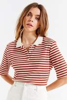 Urban Outfitters Striped Ribbed Knit Polo Shirt