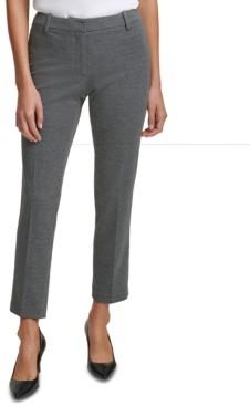 Calvin Klein Petite Slim-Leg Ankle Pants