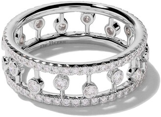 De Beers 18kt white gold Dewdrop diamond band