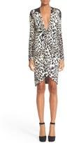 Roberto Cavalli Women's Leopard Print Jersey Dress