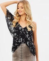 Bardot Bloom Ruffle Top