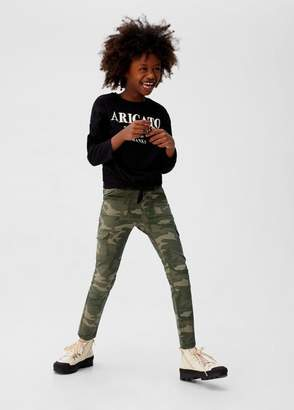 MANGO Camo-print cargo pants khaki - 5 - Kids