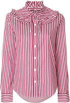 Love Moschino striped pie crust collar shirt