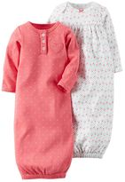 Carter's Baby Girl 2-pk. Heart & Petal Sleeper Gowns