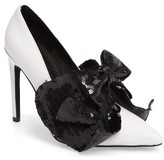 Jeffrey Campbell Women's Tonight Sequined Bow Pump