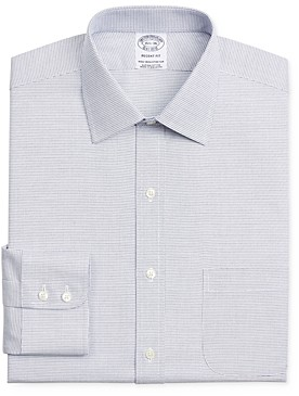 Brooks Brothers Micro-Check Regular Fit Dress Shirt