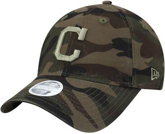 New Era Women's Camo Cleveland Indians Tonal Camo Core Classic 9TWENTY Adjustable Hat