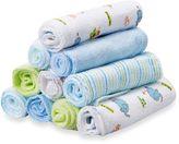 SpaSilk Baby 10-Pack Washcloth Set in Blue Elephants