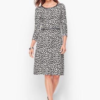 Talbots Refined Ponte Dress - Leopard