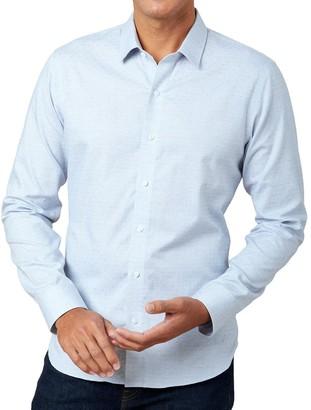 The Tie BarThe Tie Bar Blue Diamond Dobby Shirt