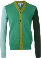 Comme Des Garçons Shirt Boys - colour block cardigan - men - Cotton/Linen/Flax/Ramie - M