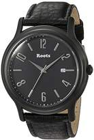 Roots 'Core' Quartz Stainless Steel and Leather Casual Watch, Color:Black (Model: 1R-PR203BA3B)