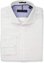Tommy Hilfiger Men's Non Iron Slim Fit Print Cutaway Collar Dress Shirt