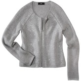 Mossimo Women's Long Sleeve Sweater Jacket w/ Gold Foil -Gray