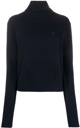 AMI Paris Ami de Coeur turtleneck jumper