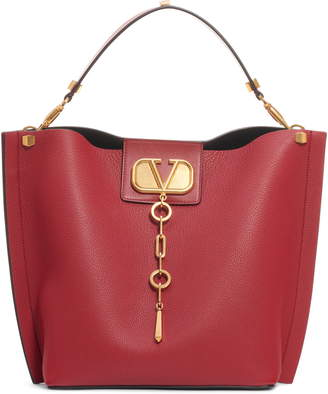 Valentino Garavani Go Logo Escape Leather Hobo Bag