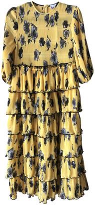 Ganni Spring Summer 2020 Yellow Polyester Dresses