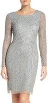 Adrianna Papell Women's Beaded Mesh Dress