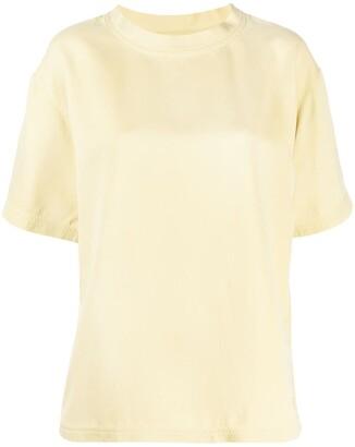 Bottega Veneta half-sleeve silk T-shirt