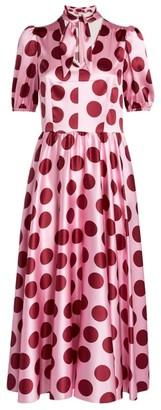 Dolce & Gabbana Silk Polka-Dot Dress