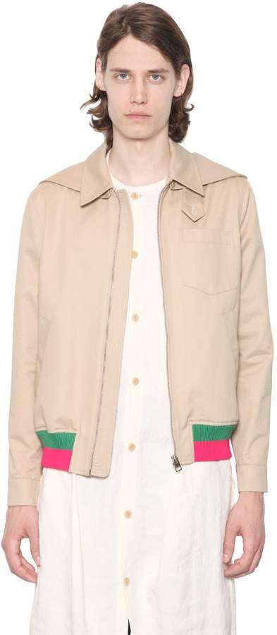 J.W.Anderson Hooded Cotton Bomber Jacket
