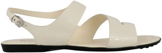 Tod's Tods Leather And Fabric Sandal