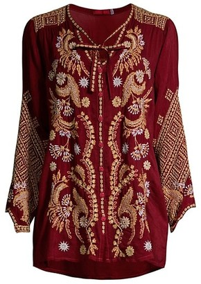 Johnny Was Minerva Embroidered Blouse