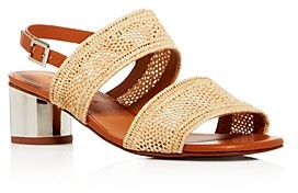Clergerie Women's Leana Woven Slingback Block-Heel Sandals