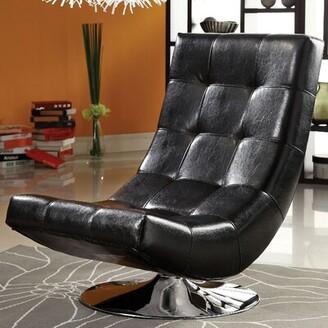 Trinidad Swivel Lounge Chair A&J Homes Studio Fabric: Black